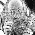 肉を貪る老人