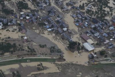 千曲川が氾濫した場所