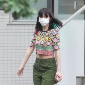 マスク姿の池田エライザ