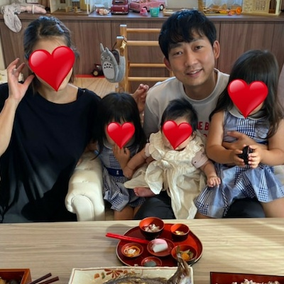 石田明と嫁とその子供