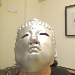 わいわい 顔 被り物 奈良