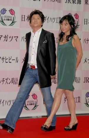 カップル大賞に選ばれた哀川翔と青地公美